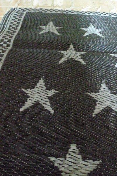 画像1: STAR ビニール・ラグ SMALL/BLACK/SILVER