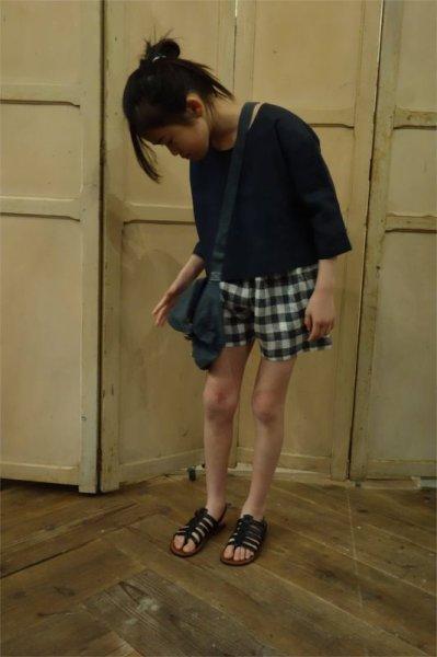 画像1: ★VDJ リネン ショートパンツ/LIN VICHY CLAIR(8,10,12才) (1)