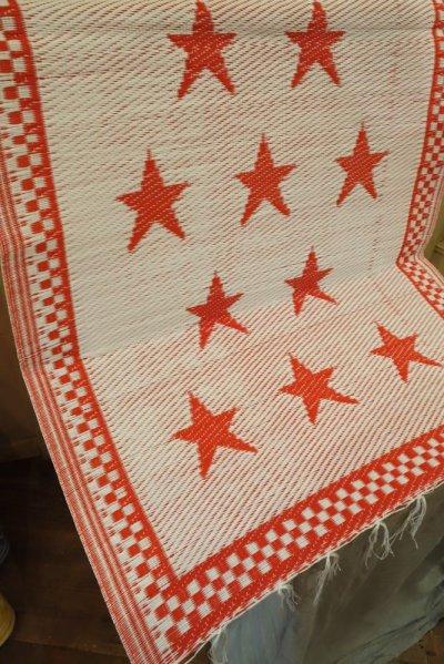 画像1: STAR ビニール・ラグ SMALL/RED/WHITE