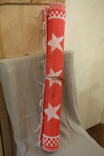 画像2: STAR ビニール・ラグ SMALL/RED/WHITE