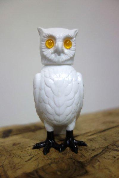 画像1: 白フクロウ/首振りドール (1)