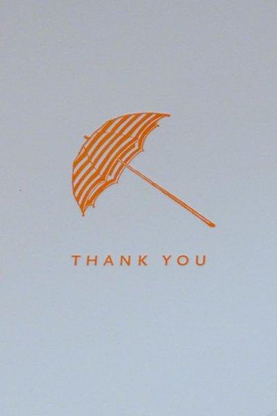 画像1: Sesame Letterpress メッセージカード (SMALL)/傘 (1)