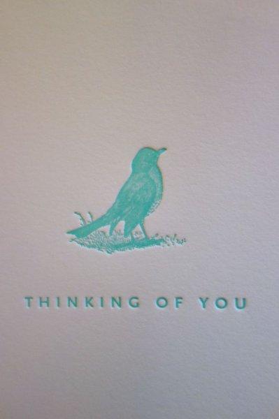 画像1: Sesame Letterpress メッセージカード (SMALL)/小鳥 (1)