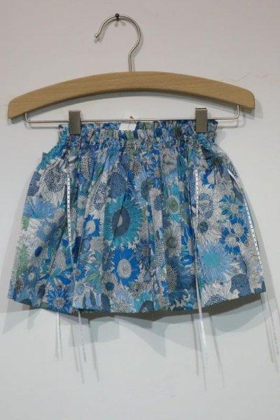 画像1: MAKIE BABY リバティスカート/BLUE FLOWER(2才のみ) (1)