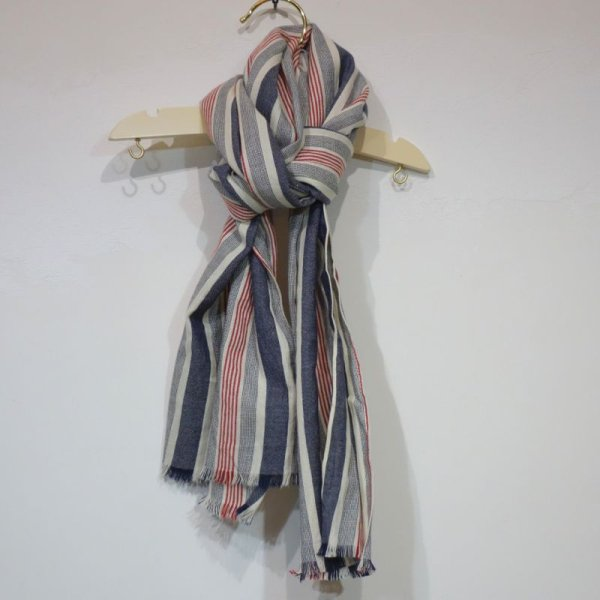 画像1: BONPOINT スカーフ(マルチストライプ)ALBA/277A (1)