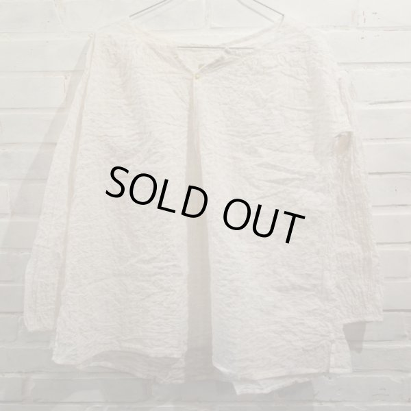 画像1: PIP-SQUEAK CHAPEAU リネンビーチシャツ/CREAM-GINGHAM(Sのみ) (1)