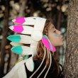 画像2: FRIDAS TIERCHEN ネイティブアメリカン髪飾り(ロング)/MULTI COLOUR (2)