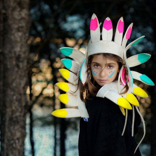 画像1: FRIDAS TIERCHEN ネイティブアメリカン髪飾り(ロング)/MULTI COLOUR (1)