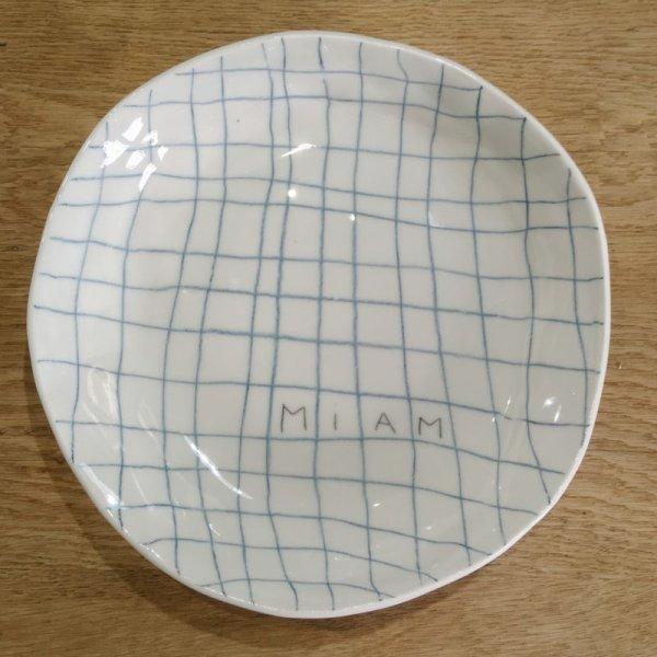 画像1: Kat's Création 格子ラインのお皿/MIAM (1)