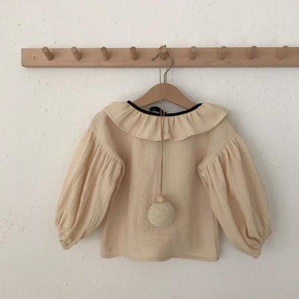 画像1: liilu stella blouse ピエロカラーのブラウス/VANILLA:バニラ(4/6才のみ) (1)