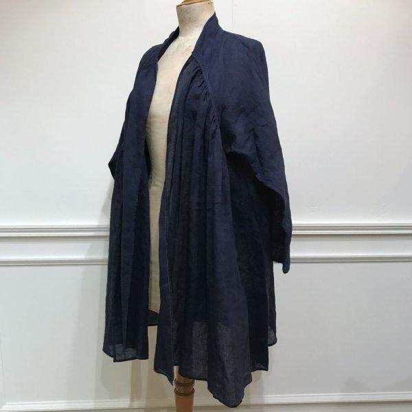 画像1: MAKIE WOMEN'S リネンオープンジャケット HEENA/NAVY (1)