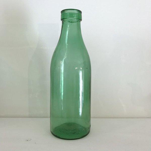 画像1: ブロカント グリーンのミルクボトル(中) (1)