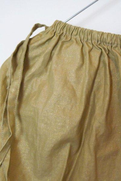 画像1: リネン・スカート GOLD/2TIE