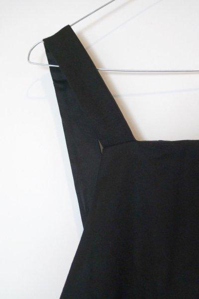 画像1: ウール・ジャンパードレス/BLACK
