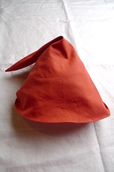 画像1: 三角帽子/オレンジ